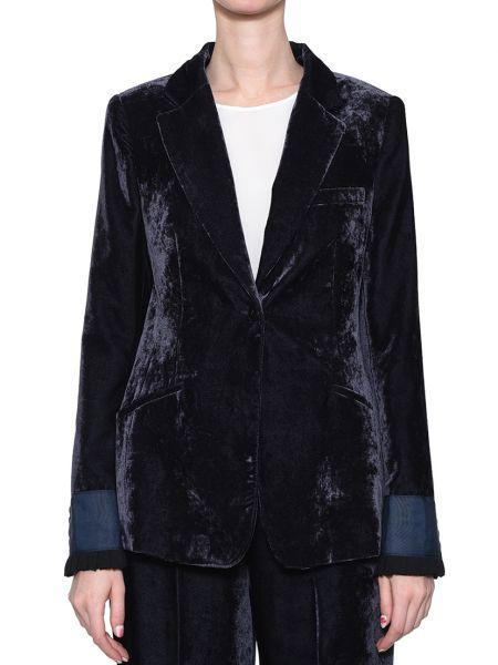 Пиджак из вискозы - синий Rene Lezard