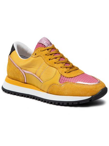 Buty sportowe skorzane - żółte Togoshi
