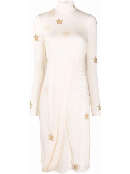 Платье миди с длинными рукавами - белое Burberry