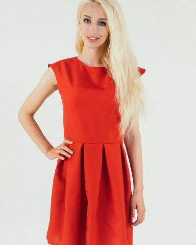 Повседневное платье весеннее красный Подіум