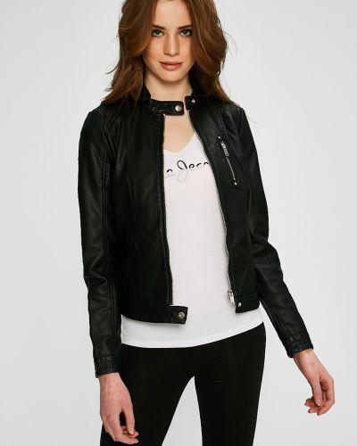 Утепленная куртка кожаная прямая Vero Moda