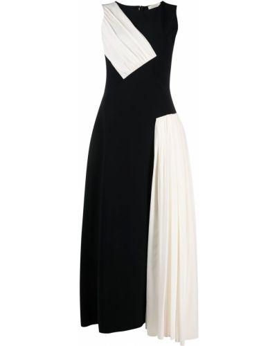 Шелковое черное платье без рукавов Nina Ricci