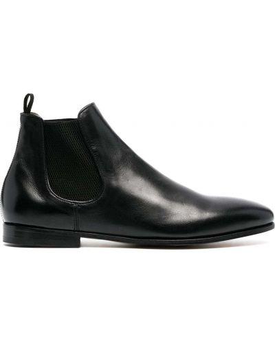 Skórzany czarny buty obcasy na pięcie Officine Creative