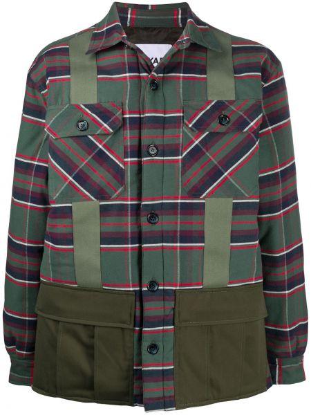 Zielona klasyczna koszula bawełniana z długimi rękawami Myar