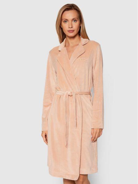 Szlafrok - różowy Emporio Armani Underwear