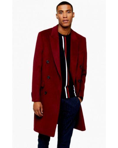 Пальто красное бордовый Topman
