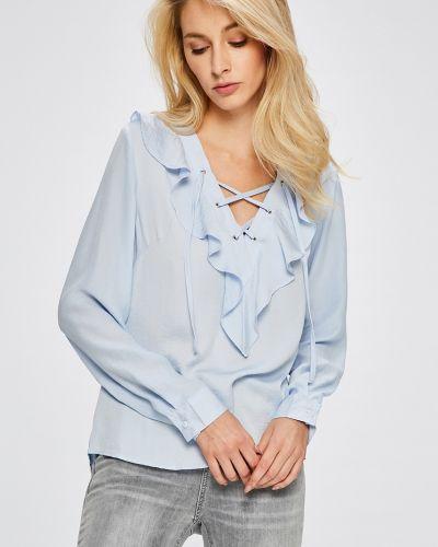 Блузка прямая с рюшами с декольте Answear