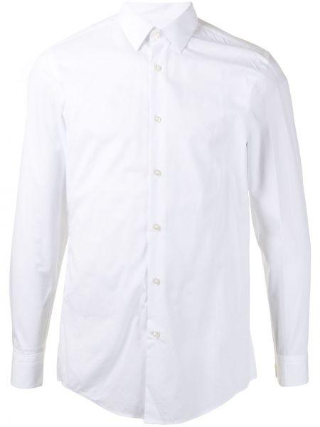 Bawełna z rękawami koszula z mankietami Boss