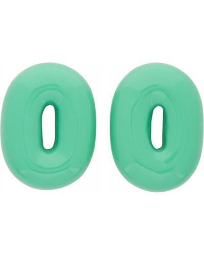 Лаковые зеленые серьги-гвоздики Uncommon Matters