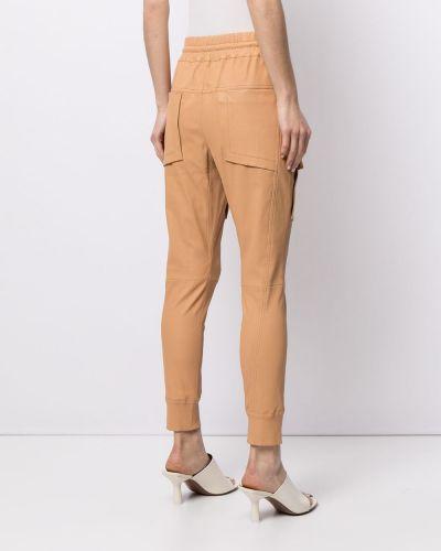 Коричневые брюки с поясом узкого кроя Manning Cartell