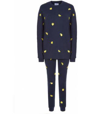 Домашний костюм в полоску с вышивкой Zoe Karssen