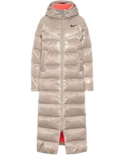Пуховое стеганое пальто хаки с подкладкой Nike
