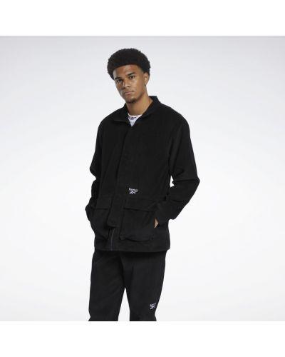 Черная куртка вельветовая Reebok