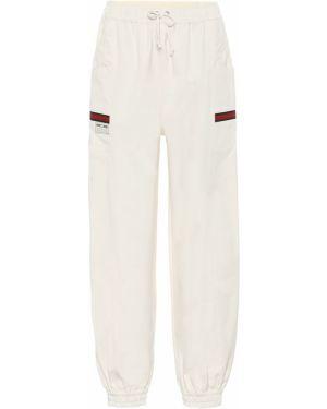 Спортивные брюки винтажные белые Gucci