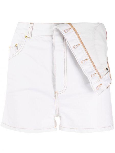 Приталенные белые шорты с карманами Y/project