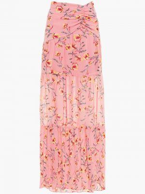 Różowa spódnica maxi z printem Rachel Zoe