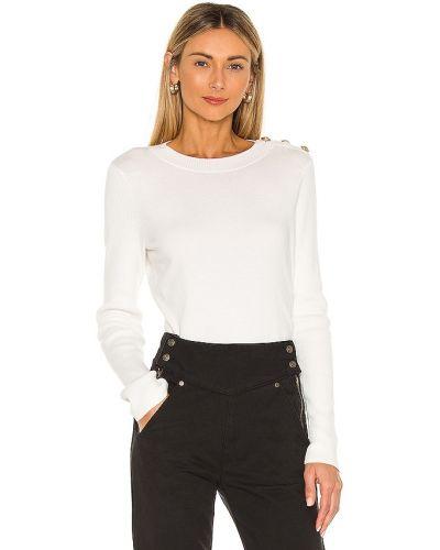 Шелковый бежевый свитер с разрезом L'agence