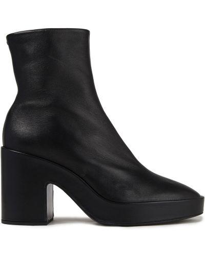 Czarne ankle boots skorzane na platformie Rag & Bone