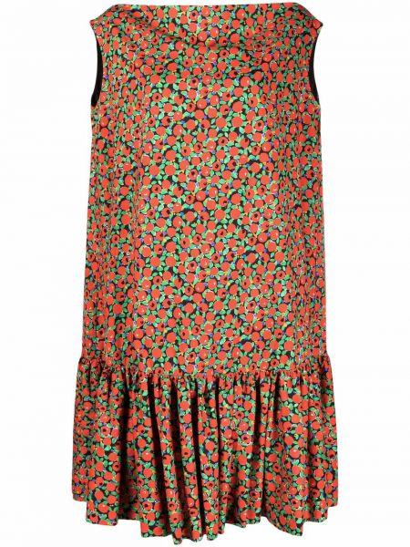 Хлопковое красное платье без рукавов Lautre Chose
