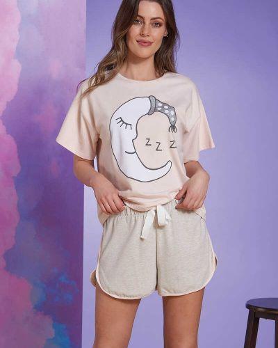 Серая пижама с принтом Sevim