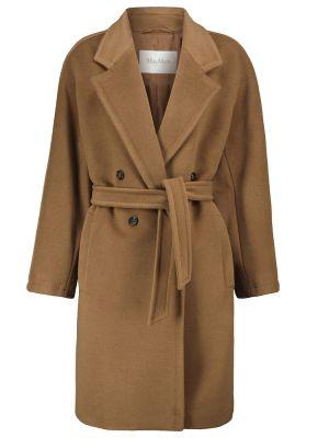 Коричневое шерстяное пальто Max Mara