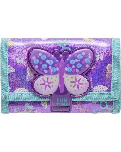 Фиолетовый брендовый кошелек на молнии Tiger