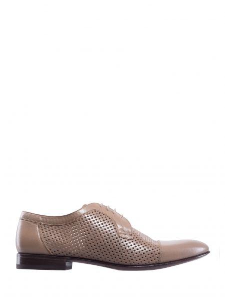Кожаные туфли на шнуровке с декоративной отделкой на шнуровке Franceschetti