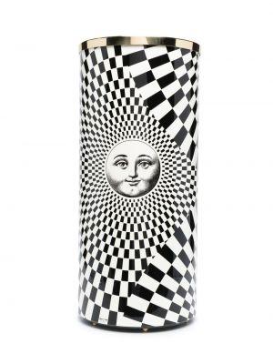 Biały parasol z printem Fornasetti