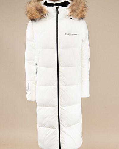Пуховик-пальто - белый Snowimage