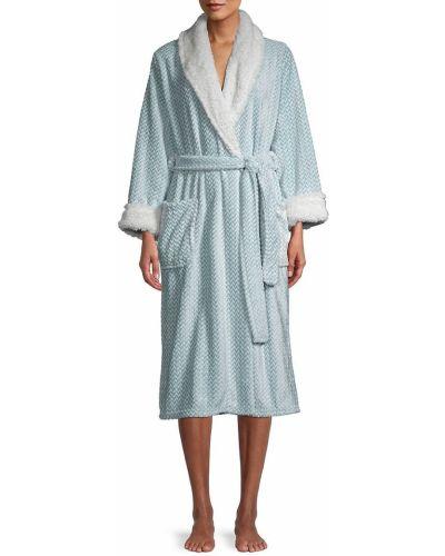 Халат для сна с длинными рукавами с воротником Saks Fifth Avenue