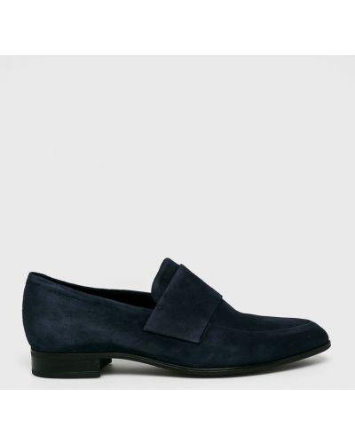 Темно-синие кожаные мокасины Vagabond