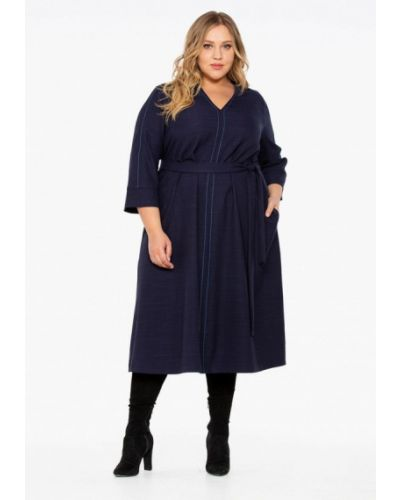 Повседневное платье осеннее синее Intikoma