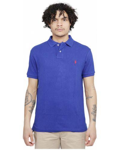 T-shirt z haftem - niebieska Polo Ralph Lauren