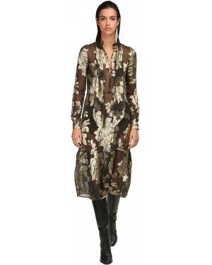 Платье миди макси на пуговицах Saint Laurent