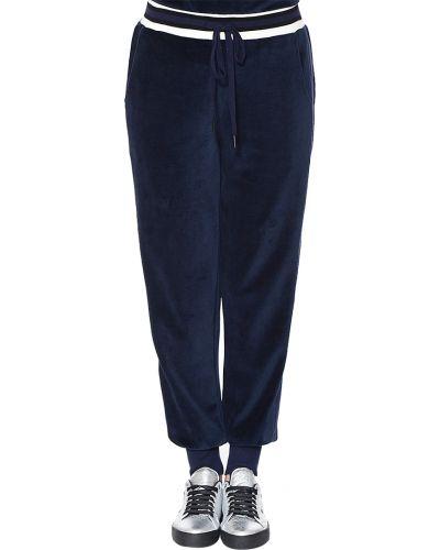 Спортивные брюки из полиэстера - синие Kendall + Kylie