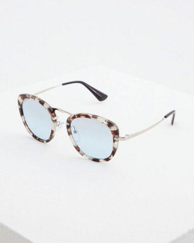 Солнцезащитные очки круглые Prada