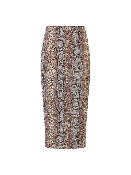 Прямая юбка - зеленая Victoria Beckham