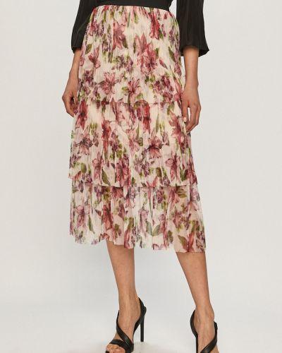 Spódnica mini z falbanami w kwiaty materiałowa Liu Jo