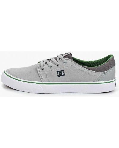 Низкие кеды замшевые серые Dc Shoes