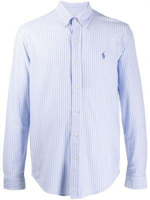Koszula z długim rękawem długa w paski Ralph Lauren