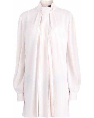 Блузка с длинным рукавом шелковая с воротником Alexander Mcqueen
