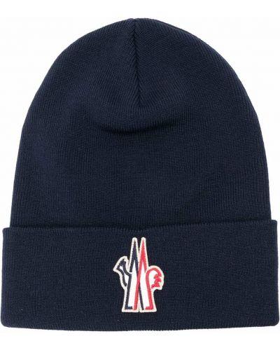 Niebieska czapka wełniana Moncler Grenoble