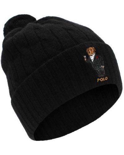 Шапка с вышивкой шерстяная Polo Ralph Lauren