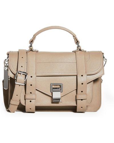 Кожаный ранец со вставками с карманами Proenza Schouler
