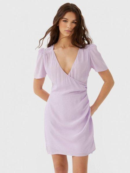 Платье розовое прямое Stradivarius