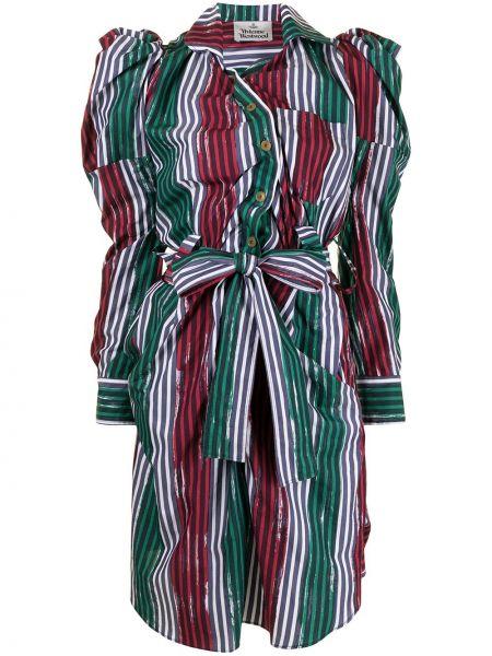 Z rękawami asymetryczny sukienka midi zapinane na guziki Vivienne Westwood