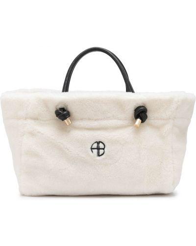 Белая сумка металлическая Anine Bing
