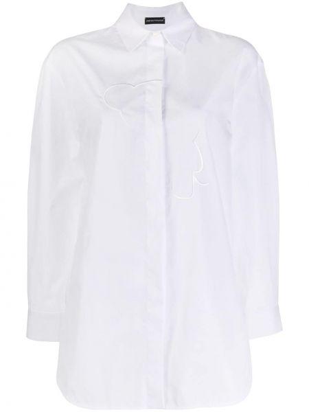 Топ с вышивкой белый Emporio Armani
