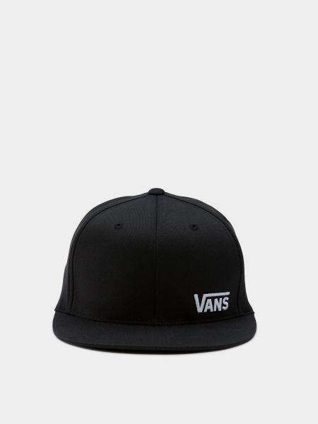 Черная прямая кепка без застежки Vans
