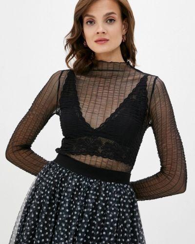 С рукавами черная блузка Intimissimi